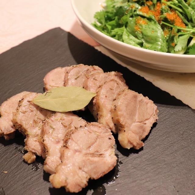 フライパンで作る塩釜豚〜海とアナベル