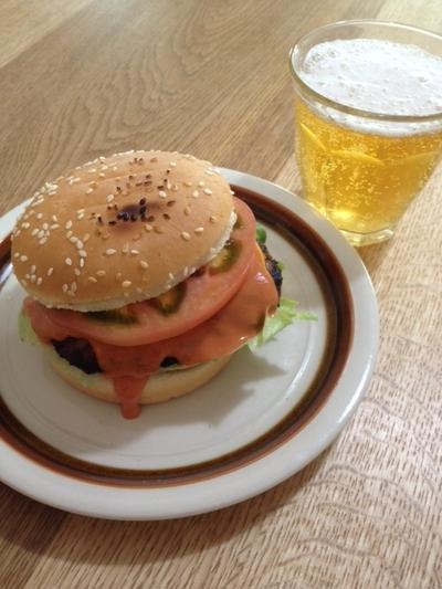簡単オーロラソースで作る 「ハンバーガー」