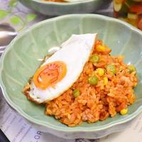 【レシピ】トマトジュースで作るジャンバラヤ風炊き込みご飯