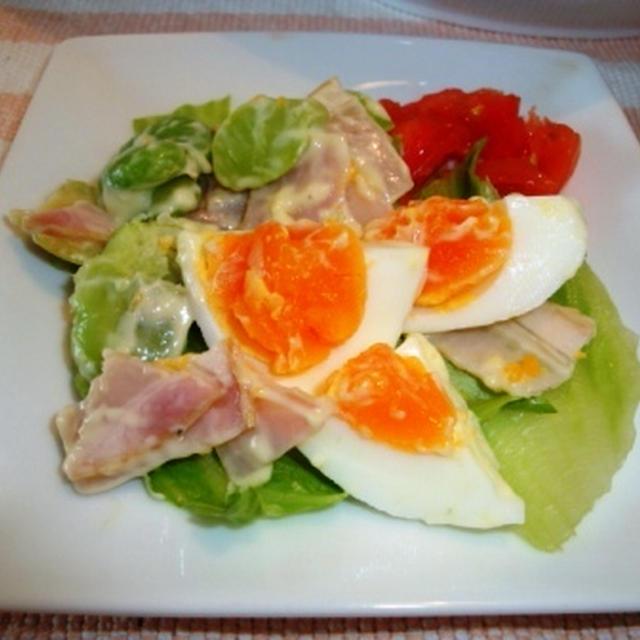 茹で卵のわさびマヨサラダ
