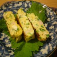 サントリーの和膳と合う和食レシピ 出汁入り具入りの卵焼き