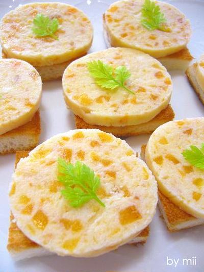 ★柿チーズのテリーヌ風カナッペ★