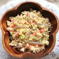 美しくなれるおからとキャベツとこんにゃくと赤パプリカのスペシャル腸活おから煮