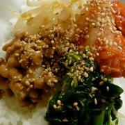 韓国風 納豆ネバネバビビンバ丼 の具