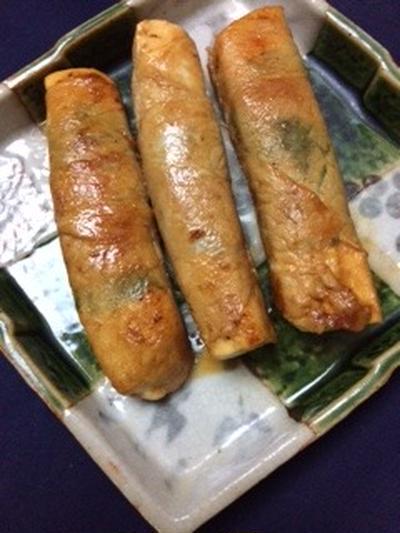豆腐の豚と青葉巻き