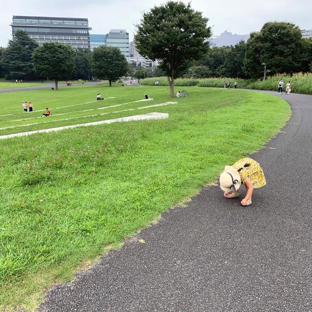 夏休み旅行1日目 広過ぎる公園で笑顔沢山&エクササイズ