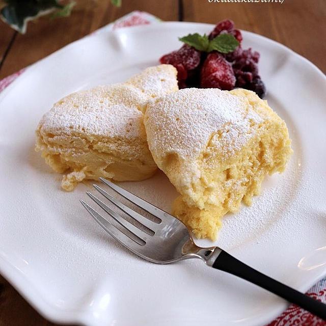 【レンジでたった1分20秒!】メレンゲでふわふわパンケーキ
