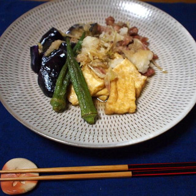 豚肉と夏野菜のおろし煮