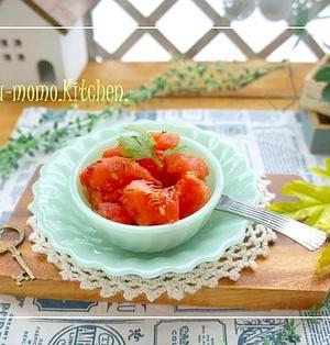 シャリシャリ~デザートに変身するトマトのシャーベット&酷い雨(ポエム)
