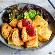 ♡簡単・ヘルシー♡お豆腐のマヨネーズピカタ♡【#節約#コスパ#卵#連載】