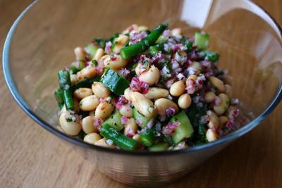 豆ときゅうりのマリネ風サラダ
