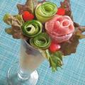 薔薇のプティブーケサラダ♪ by ハッピーさん