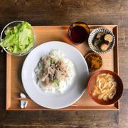 【エダジュン食堂】ねぎ塩ポーク丼定食