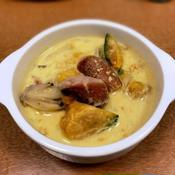 かぼちゃときのこの豆乳生姜スープ