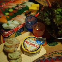 プレジデントチーズでお寿司パーティ