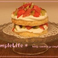 ガーリー♡アメリカンなショート・ショートケーキ
