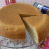 大豆粉でチーズ入りシフォンケーキ