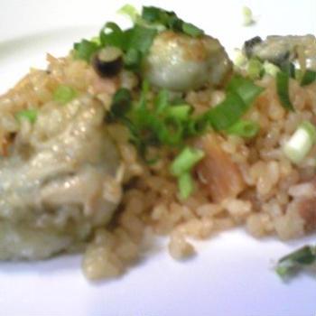 (レシピ)炊飯器で簡単!牡蠣ピラフ
