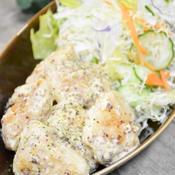 鶏ささみ肉のつぶマスタードクリーム煮