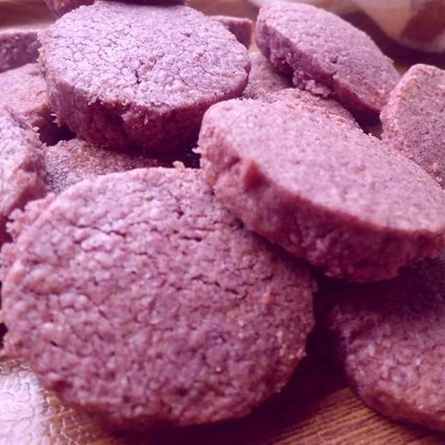 今日のレシピ&紫芋のほろほろクッキー♪