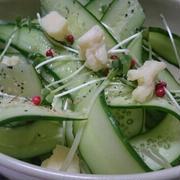 きゅうりのリボンサラダ(レシピ)