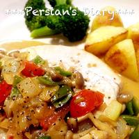 おうちでおいしい世界旅行!カジキマグロの野菜カレーソース♪