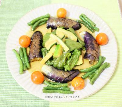 揚げ焼きして麺つゆに浸けるだけ♪夏野菜の揚げ浸し