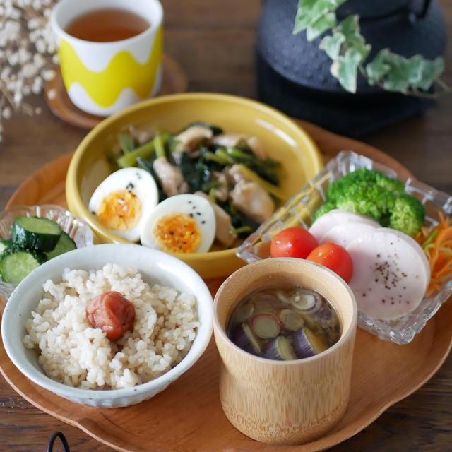 鶏もも肉と小松菜の治部煮と作り置き