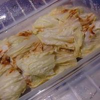 シリコンスチーマーで白菜ミルフィーユ