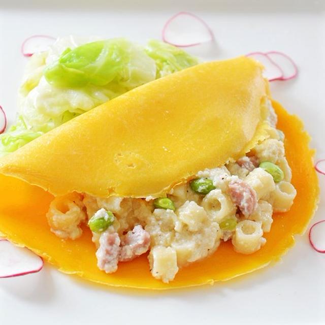 バインセオ風ディターリリーシ(パスタ)の豆腐クリーム♪