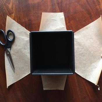 1斤型のクッキングシート敷き方
