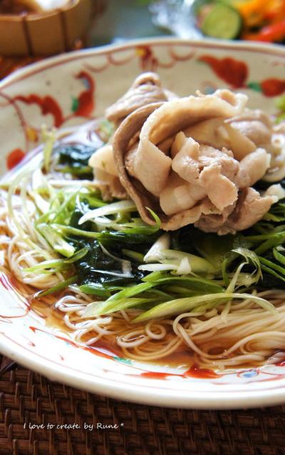 手作りめんつゆゴマの香り豊か☆中華風しゃぶしゃぶ素麺