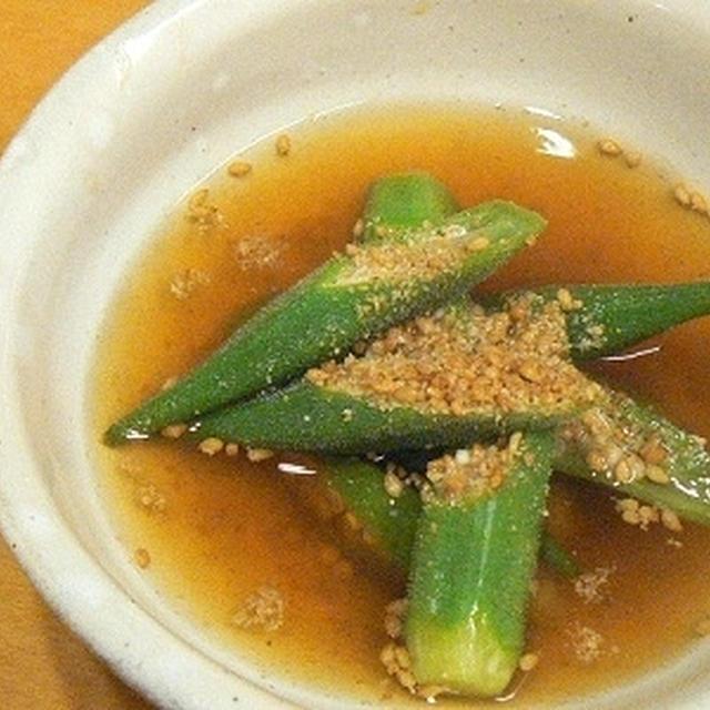 【つくレポ】冷たい!夏野菜オクラの煮びたし