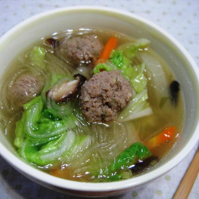 ほかほかあったまる☆肉団子スープ