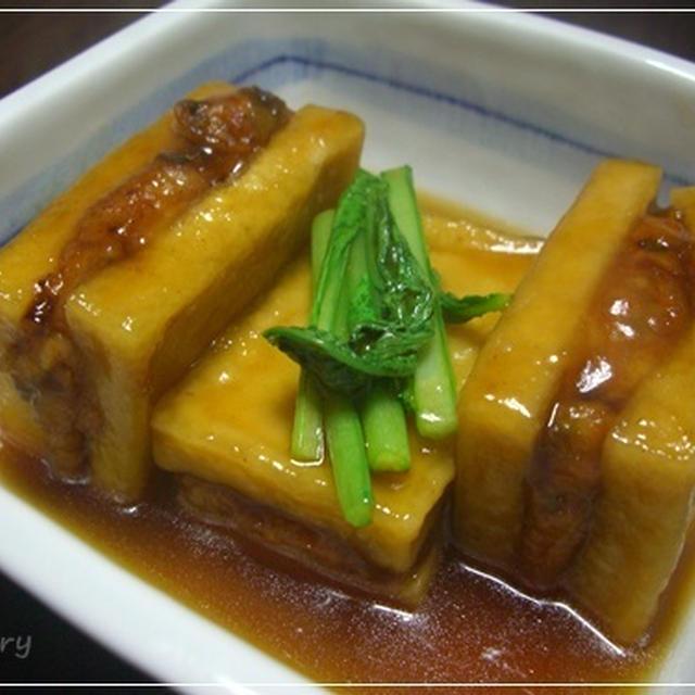 肉サンドでメイン昇格★高野豆腐の揚げ煮♪〚レシピ〛