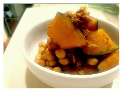 食材在庫整理【Recipe:大豆とかぼちゃのおかか蒸し煮】