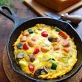 チーズで濃厚♡具沢山のスパニッシュオムレツ【#スキレット #お弁当】