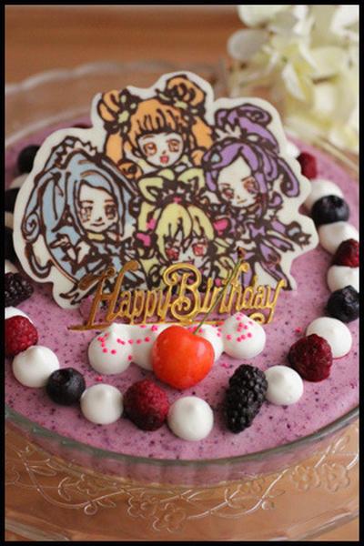 お誕生日会とプリキュアケーキ