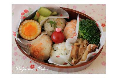焼き肉弁当no.482~焼きそばソースで味付け卵☆