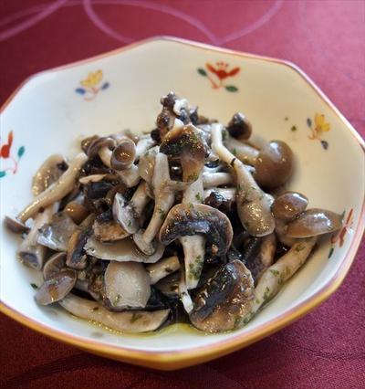 【あそれい精進料理レシピ】-レシピ-きのこのマリネ