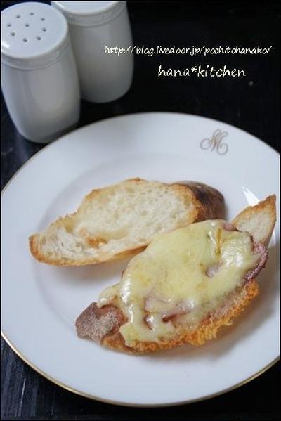 バゲットdeチーズフォンデュ風な朝食。