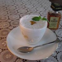 もちもち白玉のデザートスープ アマレットミルク仕立て