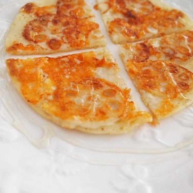連島レンコンのチーズピザ