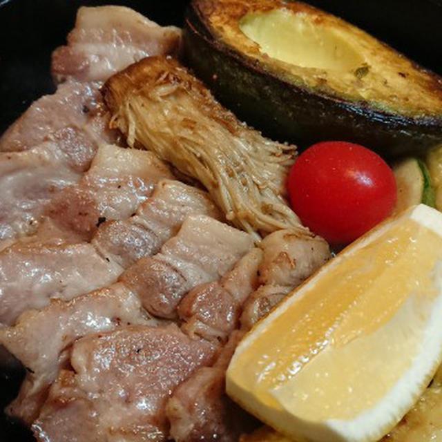 野郎飯流・豚肩ロースと野菜のロースト、のち、ガーリックライス