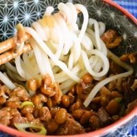 【山形名物 ひっぱりうどん】アメリカで納豆入り朝うどん