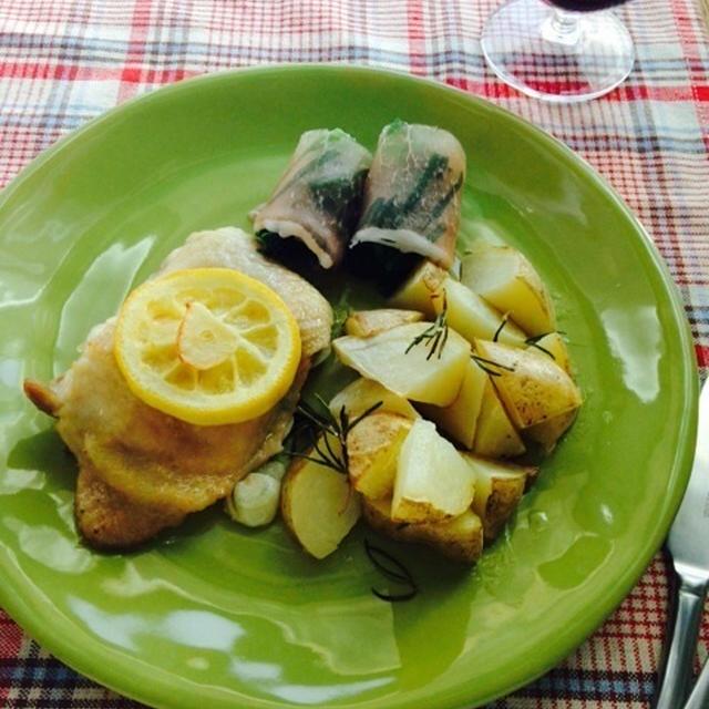 鶏肉のグリル レモンローズマリー風味