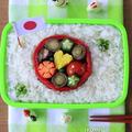カワイイ日の丸弁当✿まぜ混ぜホタテ飯