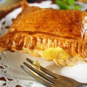 ■菜園安納芋で【スィートポテトパイ】市販の生地使いで簡単に美味しく♪