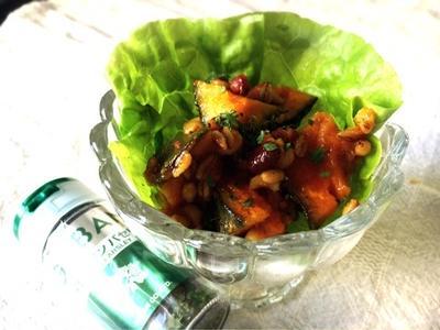 かぼちゃと小豆の甘いサラダ