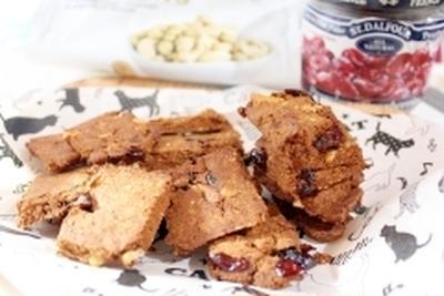 クランベリーとシナモンのピーナッツクッキー